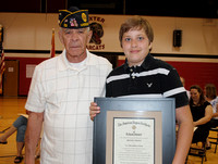Brooks Probstreceives the American Legion Award