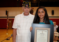 Honey Patel receives the American Legion Award